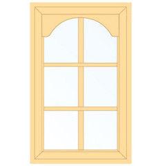 Деревянное окно Сосна для веранды, 1с, Модель 1