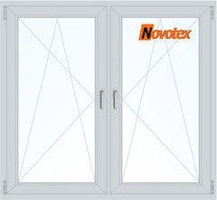 Окно ПВХ Окно ПВХ Novotex 1460*1400 1К-СП, 5К-П, П/О+П/О