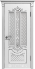 Межкомнатная дверь Межкомнатная дверь Эстель Люкс Александрия ДО белая эмаль