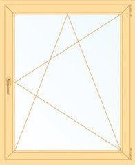 Деревянное окно Сосна 800*1200, 1с, П/О