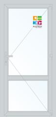 Алюминиевая дверь Alutech ALT C48 900x2400 2К-СП, 1К-П Одностворчатая с импостом
