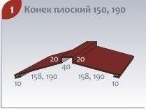 Комплектующие для кровли Изомат-Строй Конёк плоский 150, 190