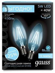 Лампа Лампа Gauss 103801205P, E14, C35, 5Вт
