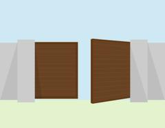 Alutech Ворота распашные с-п «полоса» авт 3*1,5