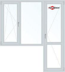 Окно ПВХ Окно ПВХ Brusbox 1860*2160 1К-СП, 3К-П, П/О+Г+П