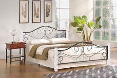 Кровать Кровать Halmar Violetta 140 (белый/черный)