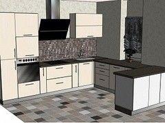 Кухня Кухня ЗОВ Акрил (вариант 8)