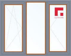 Дерево-алюминиевое окно Gutmann Дуб 2060*1420, в/с, П/О+Г+П