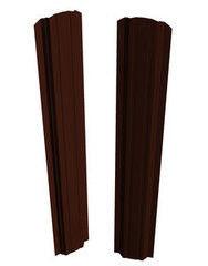 Забор Забор Скайпрофиль Штакетник П-97 одностороннее покрытие Пэ глянцевый RAL8017