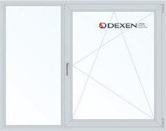 Окно ПВХ Окно ПВХ Dexen 1700*1400 2К-СП, 4К-П, Г+П/О