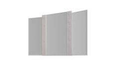 Зеркало SV-Мебель Гамма 20 (ясень анкор светлый/сандал светлый, для стола туалетного)