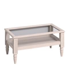 Журнальный столик Глазовская мебельная фабрика 1 Montpellier (дуб млечный) стеклянная столешница