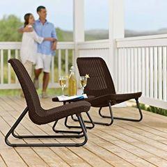 Комплект мебели из ротанга Keter Rio Patio set коричневый