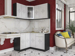 Кухня Кухня Артем-мебель Жасмин Камелия белый глянец