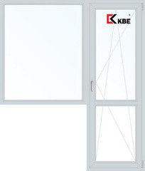 Окно ПВХ Окно ПВХ KBE Эксперт 1860*2160 2К-СП, 5К-П, П/О+Г