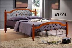 Кровать Кованая кровать Red&Black Руя 160x200 (Темный орех)