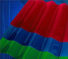 Светопрозрачная кровля Юг-Ойл-Пласт Поликарбонат монолитный цветной (трапеция) 0.8 мм