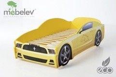 Детская кровать Детская кровать МебеЛев Мустанг (желтый)