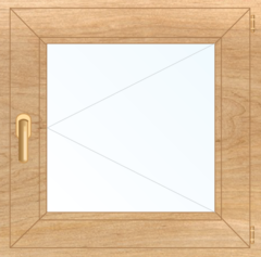 Деревянное окно Сосна для бани, сауны 300x300, стеклопакет