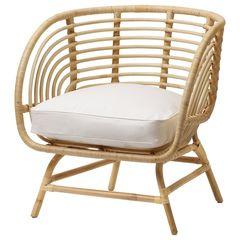 Кресло из ротанга IKEA Бускбу 192.990.19