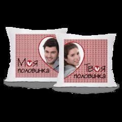 Декоративная подушка Карандаш Половинки с фото 02430