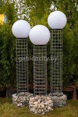Габион GabionCity Столб-фонарь из габионов 1
