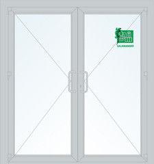 Дверь ПВХ Дверь ПВХ Salamander 2050x1300 ДО распашная