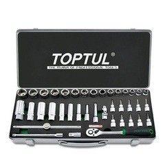 Столярный и слесарный инструмент Toptul Набор торцевых головок GCAD3902