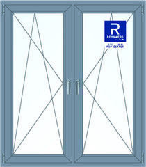 Алюминиевое окно Reynaers 1400*1600 ПО+ПО