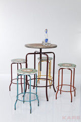 Журнальный столик Kare Bartable+Stools Vintage Coffee 5-part 78618