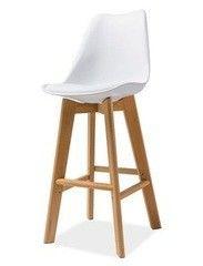 Барный стул Барный стул Signal Kris H-1 (белый/бук)
