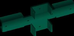 Забор Забор Скайпрофиль Кронштейн крестообразный с полимерным покрытием RAL6005