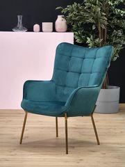 Кресло Кресло Halmar Castel 2 (темно-зеленый/золотой)