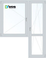 Окно ПВХ Окно ПВХ WDS 1440*2160 2К-СП, 5К-П, П+П/О