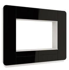 Олмеко Лаванда-2 (белый/черный глянец)