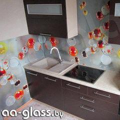 Скинали AA-Glass Скинали 2 из закаленного стекла 6мм + фотопечать (УФ-запекание)