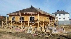 Строительство домов Строительство домов СтройСпецПартнер в п. Сокол