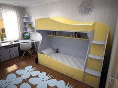 Двухъярусная кровать ЭталонМебельКом Солнышко