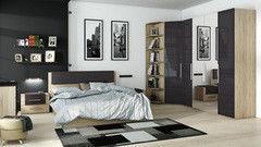 Спальня ТриЯ Ларго люкс (дуб Сонома/какао глянец)
