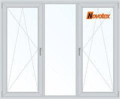 Окно ПВХ Novotex 2060*1420 1К-СП, 3К-П, П/О+Г+П/O