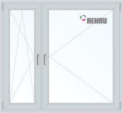 Окно ПВХ Rehau 1460*1400 1К-СП, 3К-П, П/О+П