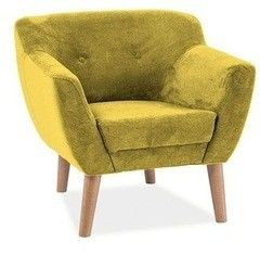 Кресло Кресло Signal Bergen 1 (желтый)