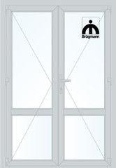 Дверь ПВХ Дверь ПВХ Brugmann 2D 1300*2100 двустворчатая Модель 128