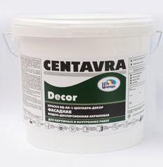 Краска Краска Centavra Декор ВД-АК-1 фасадная водно-дисперсионная акриловая, белая (15кг)
