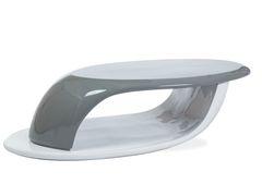 Журнальный столик Signal Canon (серый лак/белый лак)