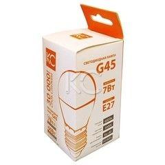 Лампа Лампа КС G45-7W-3000K-600Lm-E27