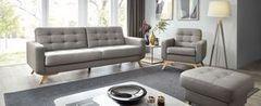 Набор мягкой мебели Набор мягкой мебели Gala Collezione Fiord в коже (диван, кресло, пуф)