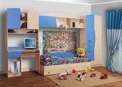 Детская комната Детская комната Олмеко Тони голубой