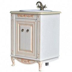 Мебель для ванной комнаты Атолл Тумба Полини 65 dorato (столешница из камня)
