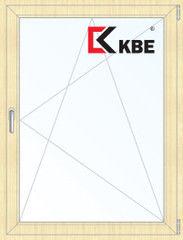 Окно ПВХ Окно ПВХ KBE 800*1100 2К-СП, 5К-П, П/О ламинированное (светлое дерево)
